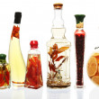 Stock Photo: Oil Infusions and Preserves