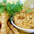 Stock Photo: Hummus with Lemon and Cilantro
