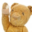 Vintage Teddy Bear Injured — Stock Photo
