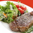 Steak and Salad - Stock Photo