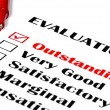 Outstanding Evaluation — 图库照片