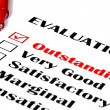 Stock Photo: Outstanding Evaluation