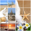 zomer strand collage — Stockfoto
