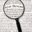 Stock Photo: Buyer Beware
