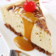Caramel Cheesecake - Stock Photo