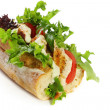 Chicken and Salad Baguette — Stock Photo