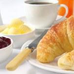 Croissant Breakfast — Stock Photo