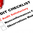 Audit Checklist — Stock Photo #5526893