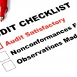 Royalty-Free Stock Photo: Audit Checklist