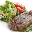 Stock Photo: Steak and Salad