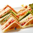 Stock Photo: Club Sandwiches