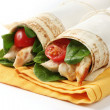 Chicken Wrap Sandwiches — Stock Photo #5526991