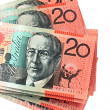 Australian Twenty Dollar Notes — Stock Photo