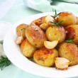 Roasted Garlic Potatoes - Foto de Stock