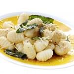 Potato Gnocchi with Sage Butter — Stock Photo
