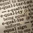 Definition of Equality — Stock Photo