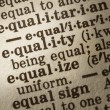 Definition of Equality - Stock Photo