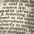 Definition of Equity — 图库照片