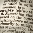 Definition of Equity — Stock Photo