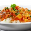 Stock Photo: Chicken Curry and Rice