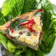 Spinach Frittata - Stock Photo
