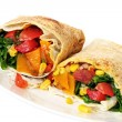 Vegetable Wrap Sandwich — Stock Photo