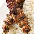 Stock Photo: Chicken Kebabs
