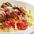 Spaghetti and Meatballs — Foto de Stock