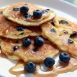 Blueberry Pancakes - Stock Photo