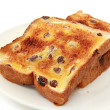 Raisin Toast — Stock Photo
