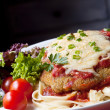 Chicken Parmigiana — Stock Photo