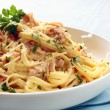 Stock Photo: Fettucine Carbonara
