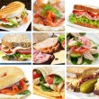 Sandwich Collage — Stock Photo #5529322