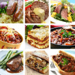 Foto Stock: Beef Meals Collage