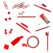 Stock Photo: Red Office Supplies