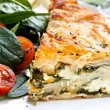 Spinach Pie - Stock Photo