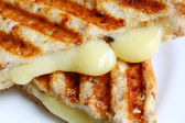 Closeup of Grilled Cheese Sandwich — Stock Photo