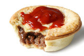 Aussie Meat Pie and Sauce — Stock Photo