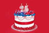 Twenty-Fifth Celebration Cake — Stock Photo