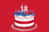 Eighteenth Birthday Cake — Stock Photo