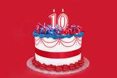 Number Ten Cake — Stock Photo