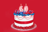 60th Cake — Stock Photo