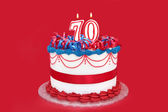 70th Cake — Stock Photo