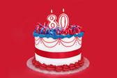 80 のケーキ — ストック写真