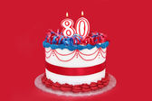 80th Cake — Stock Photo