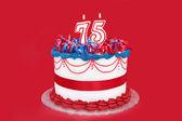 75th Cake — Stock Photo