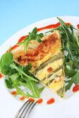 Asparagus Quiche — Stock Photo