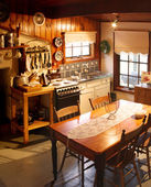 Country Cottage Kitchen — Stock Photo