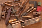 Vintage Woodworking Tools — Stock Photo