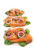 Smoked Salmon Appetizer — Stock Photo